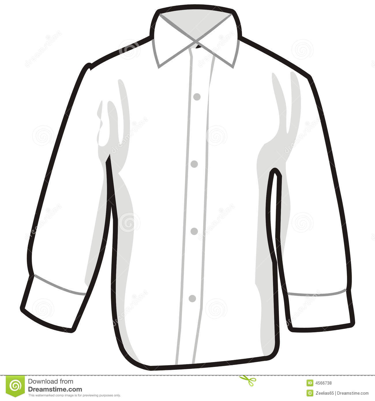 Collared Dress Shirt Clipart