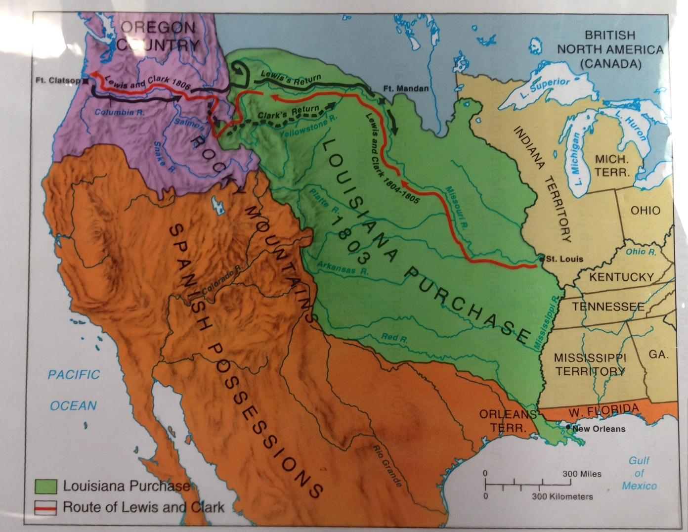 Louisianna Territory Map Clipart