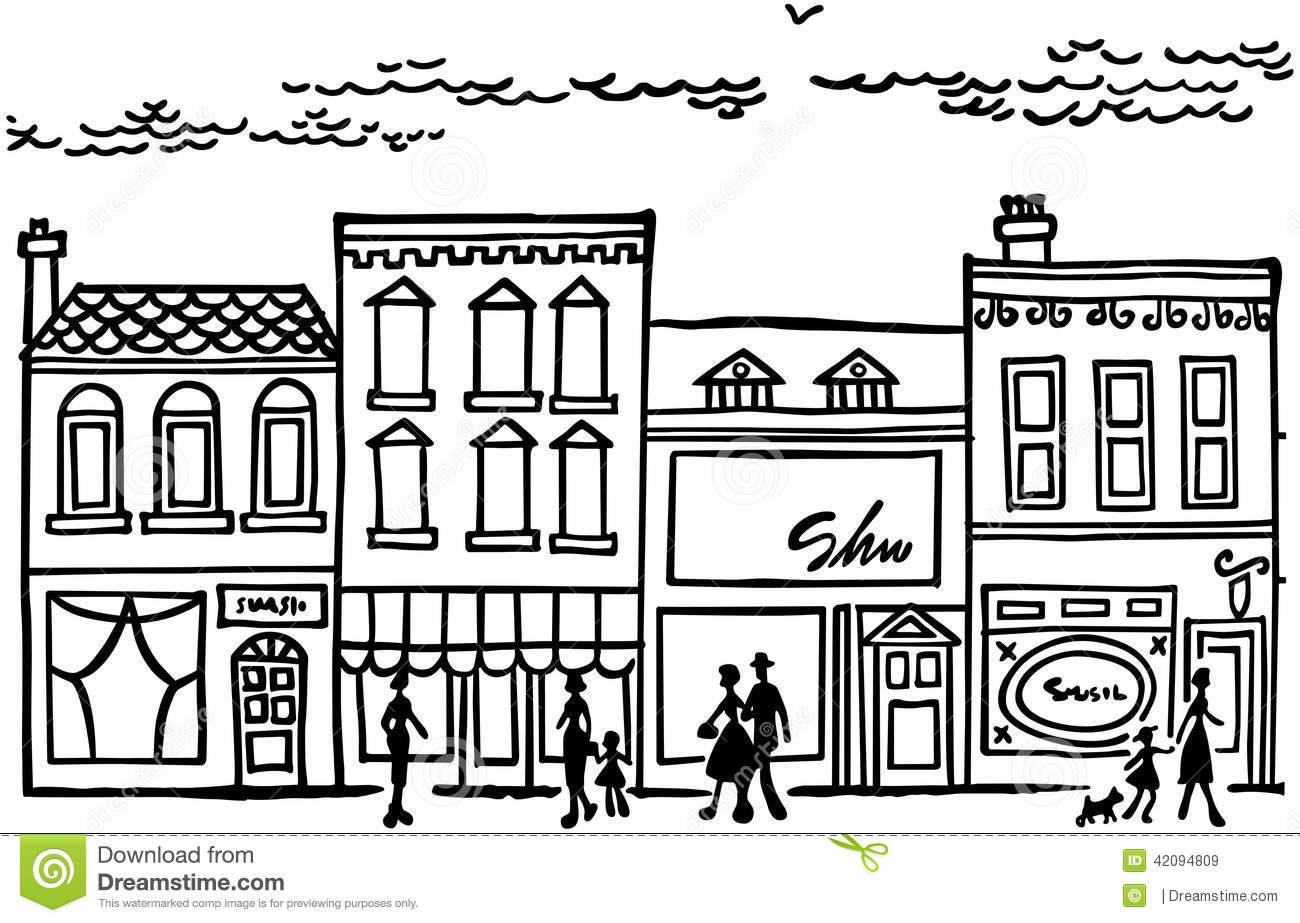 Small Town Clipart