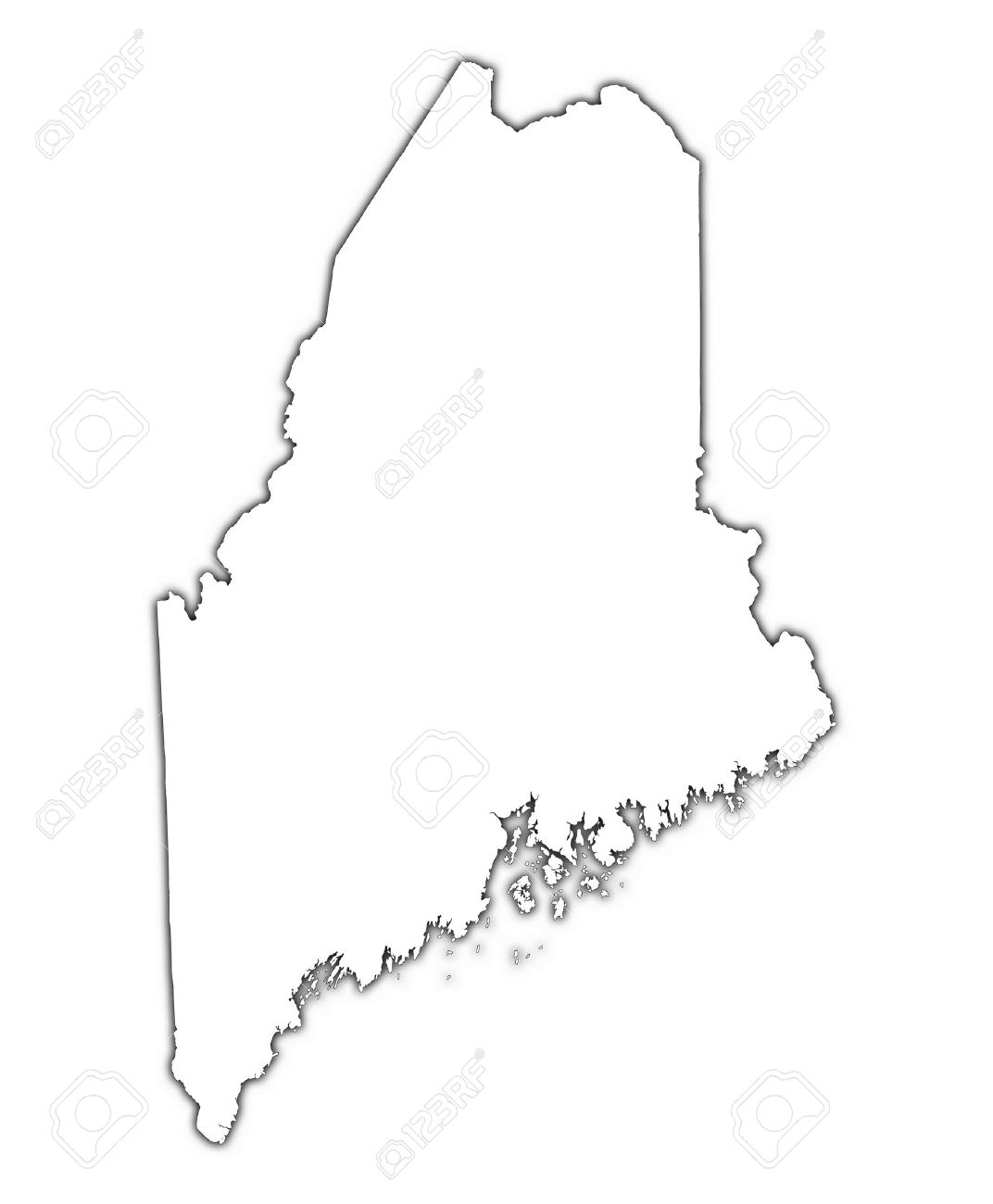 Maine Outline Clipart Free