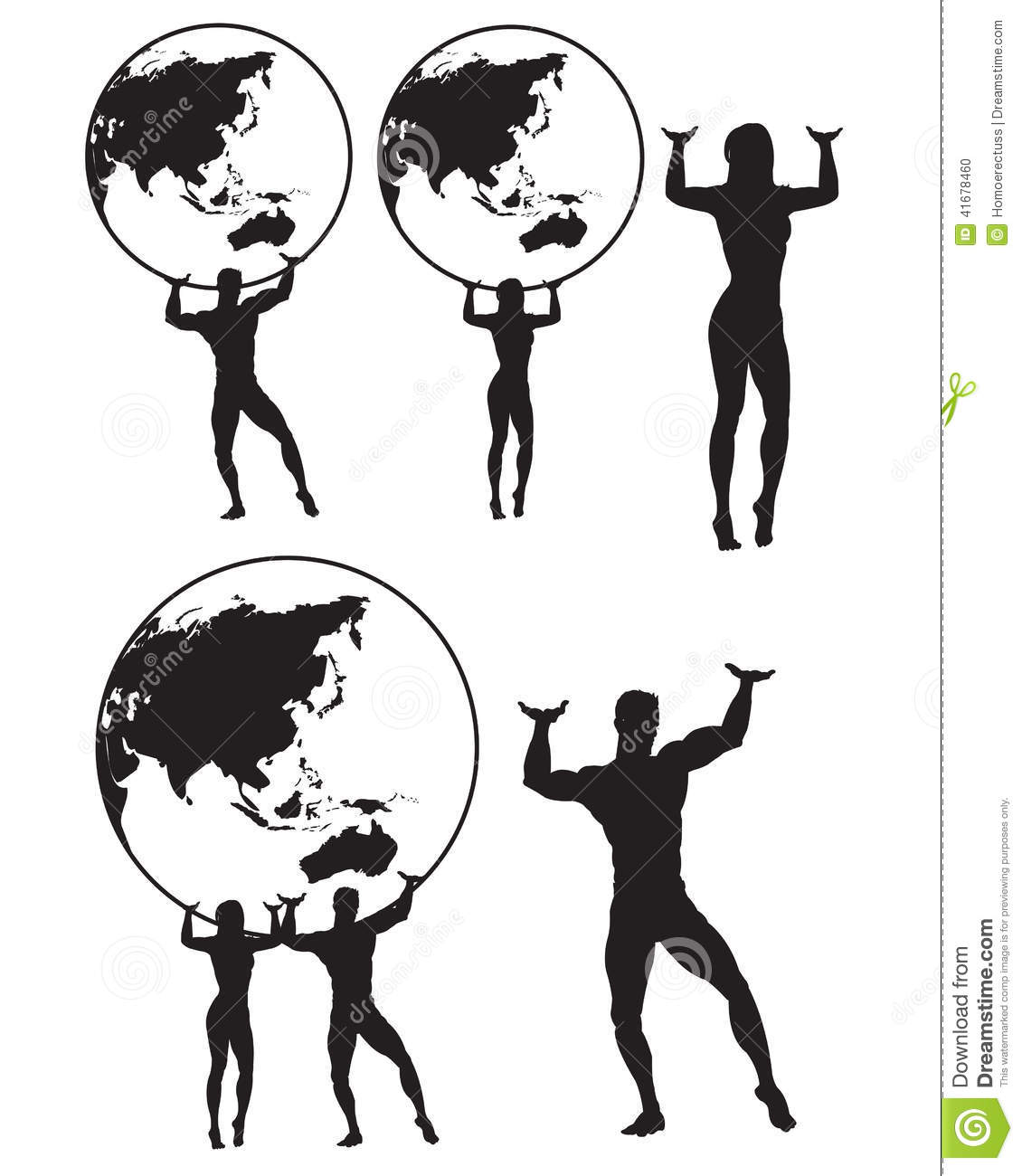 Man With Globe Clipart