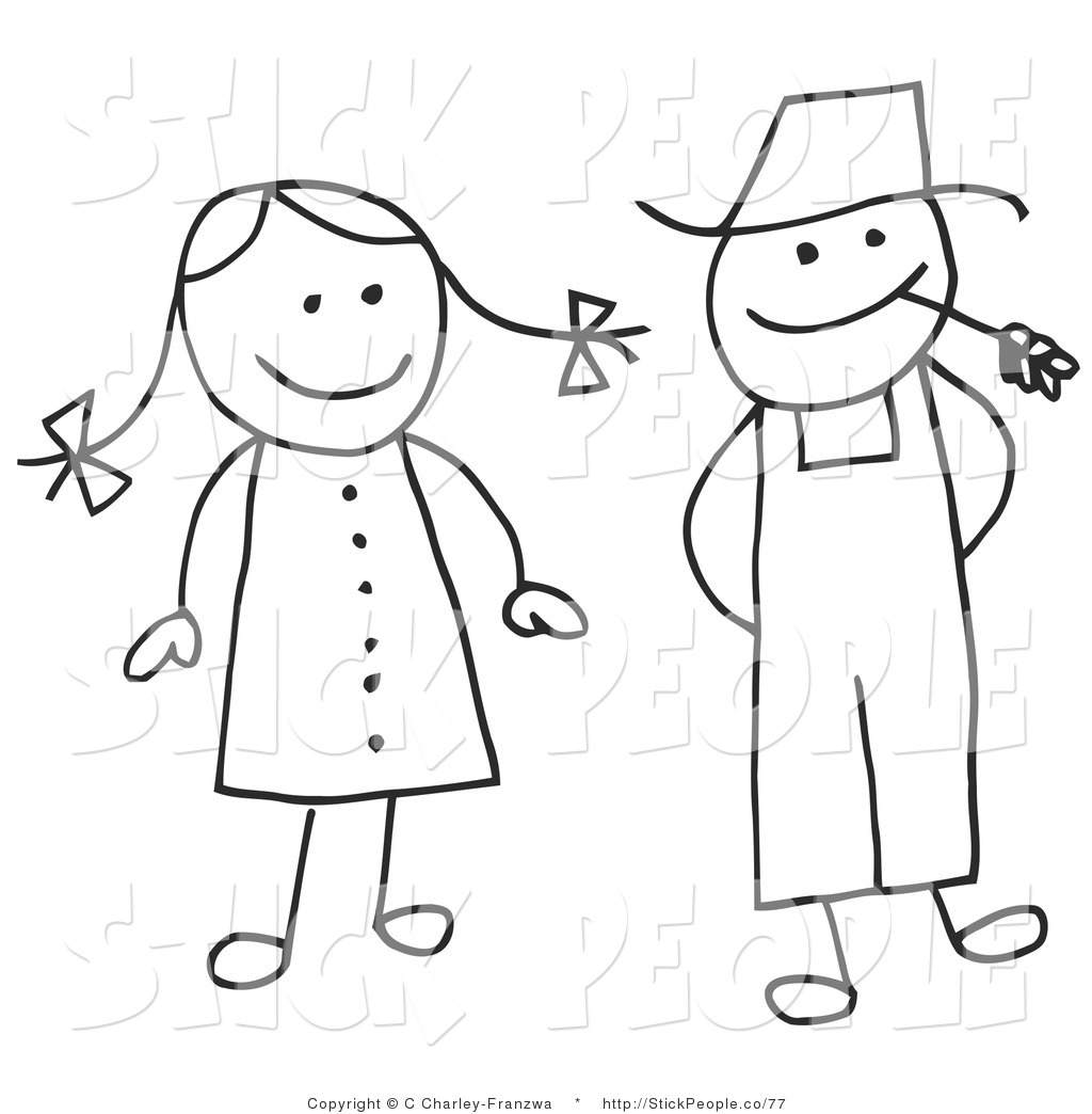 Man Woman Clipart Black And White 20 Free Cliparts