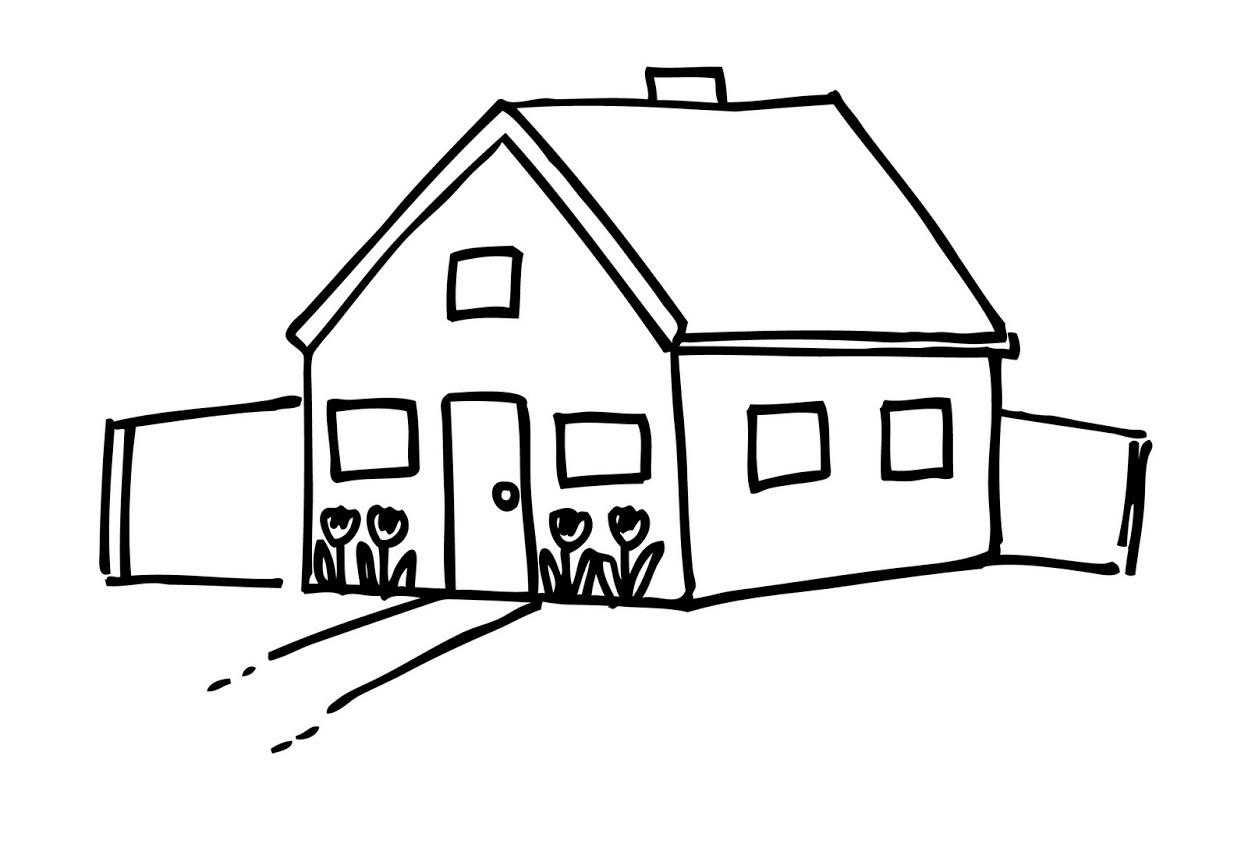 Stick House Clip Art