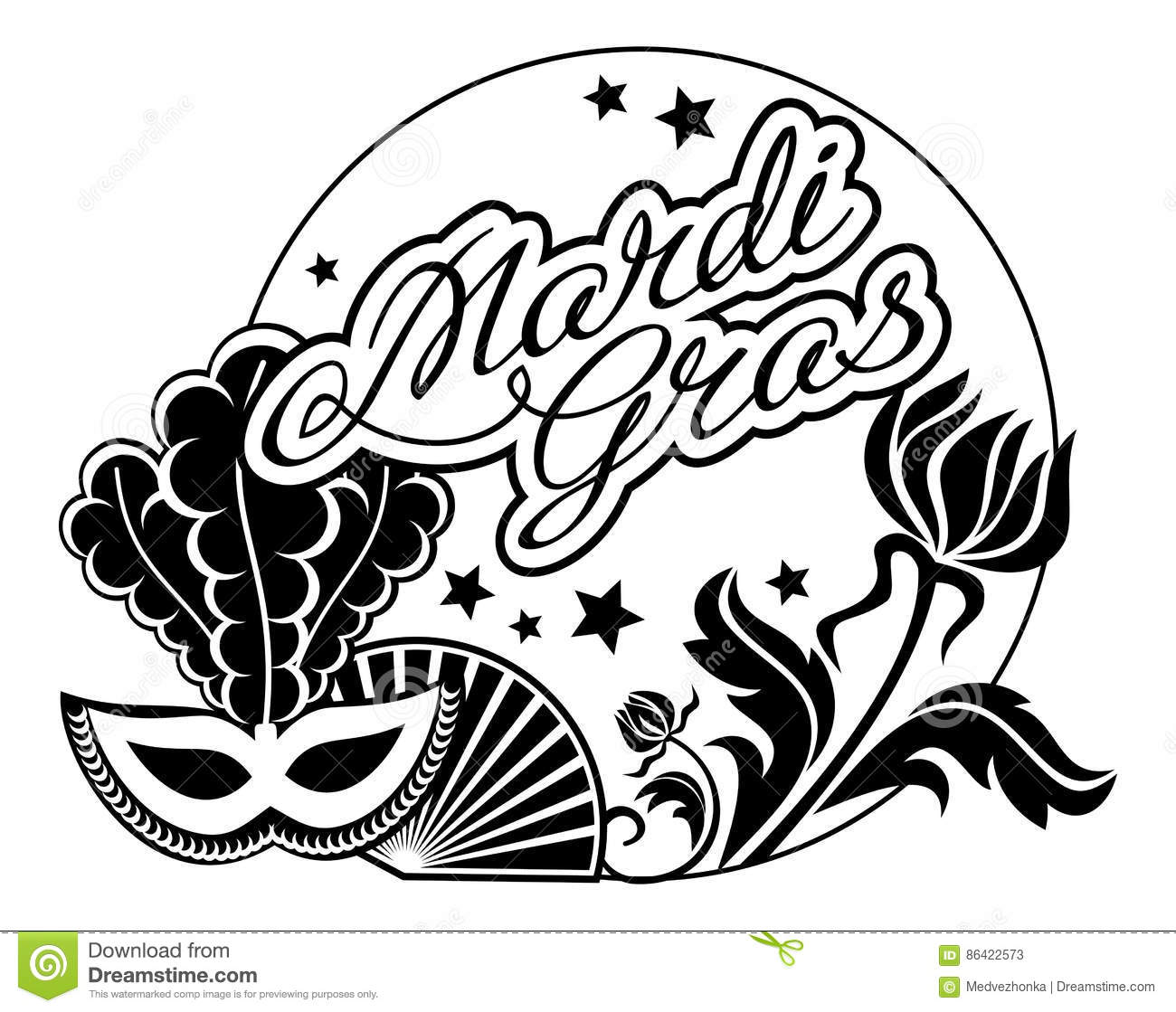 Mardi Gras Clipart Black And White 10 Free Cliparts