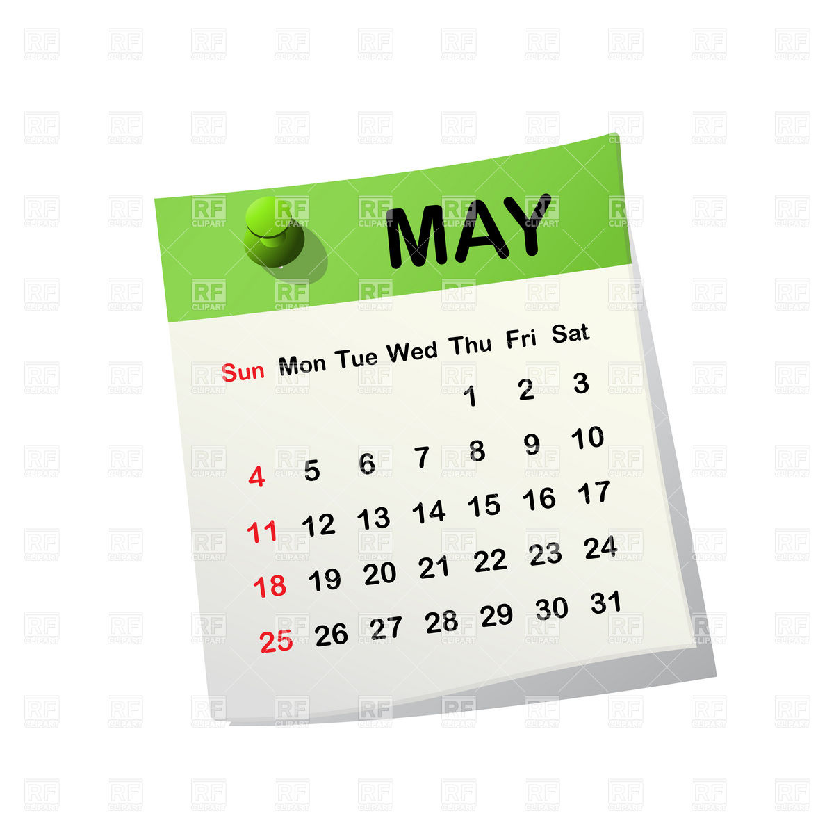 May Calendar Heading Clipart 20 Free Cliparts