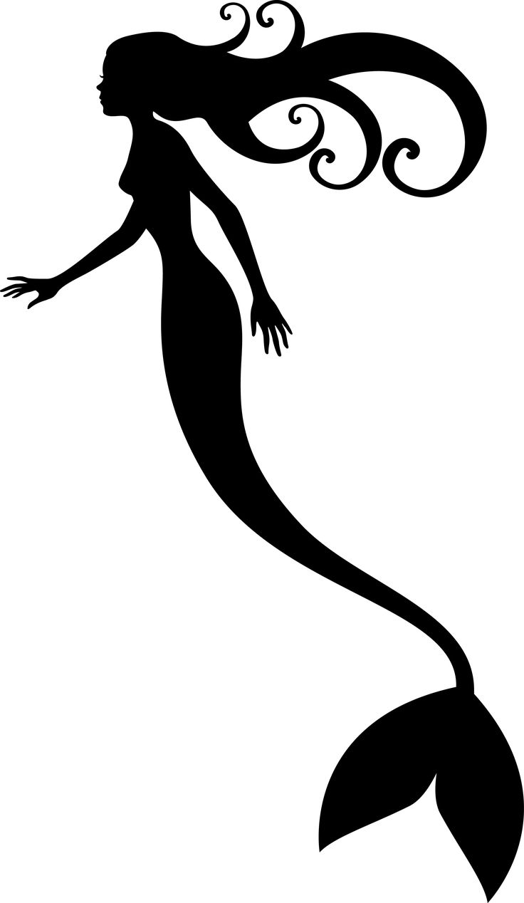 Mermaid Tail Clipart Outline Clipground