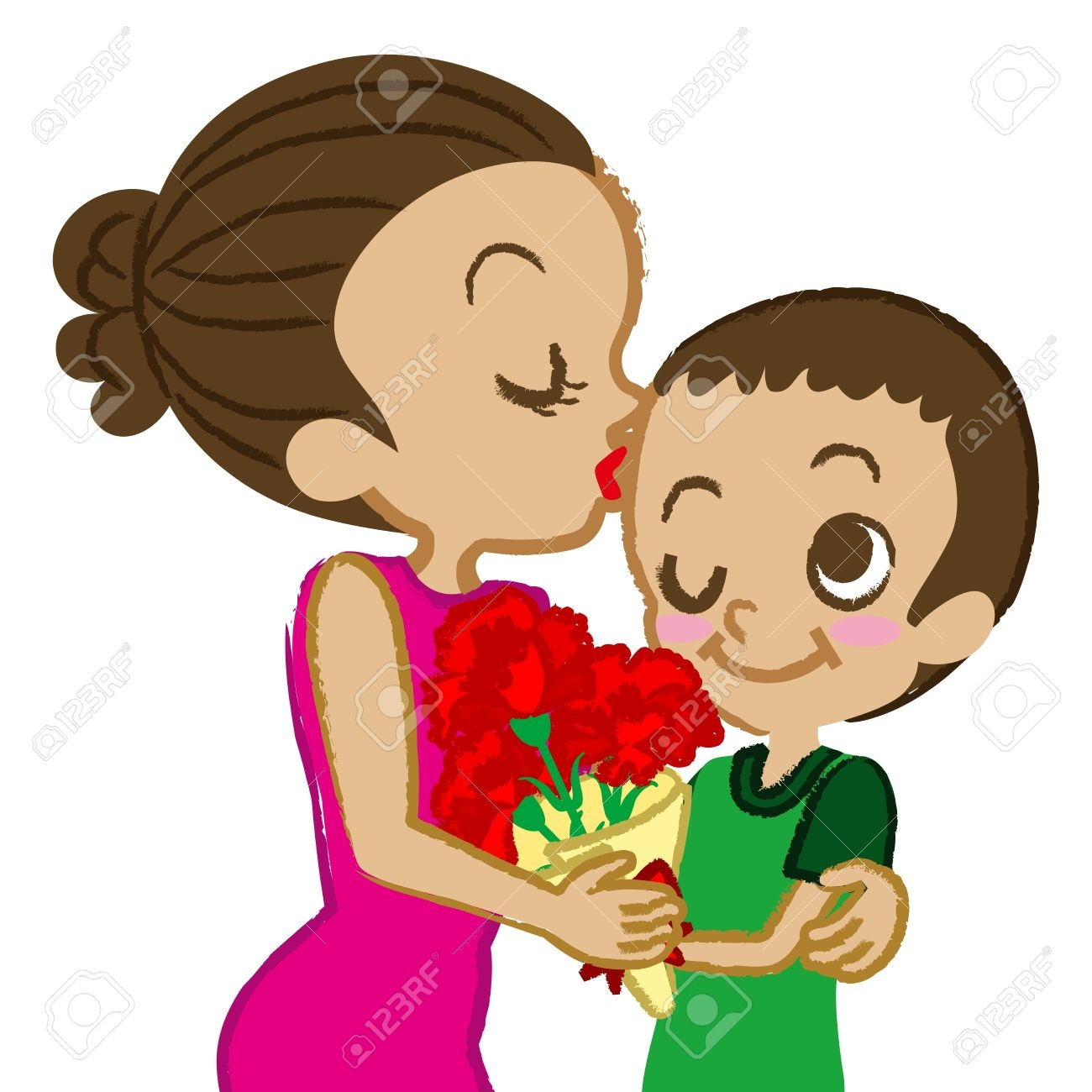 Mother kiss clipart 20 free Cliparts   Download images on ... (1300 x 1300 Pixel)