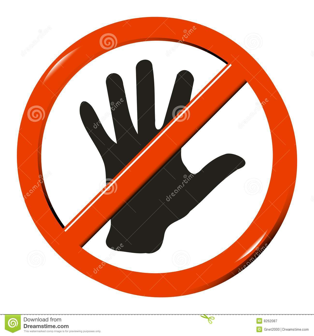 No Touching Clipart