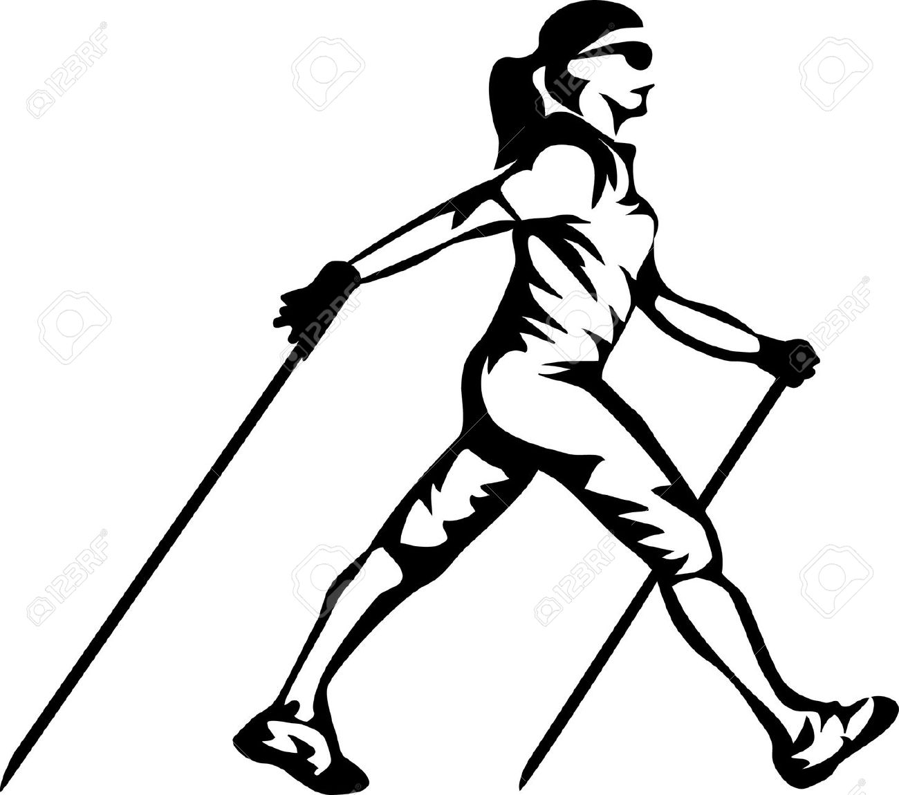 Nordic Walking Clipart