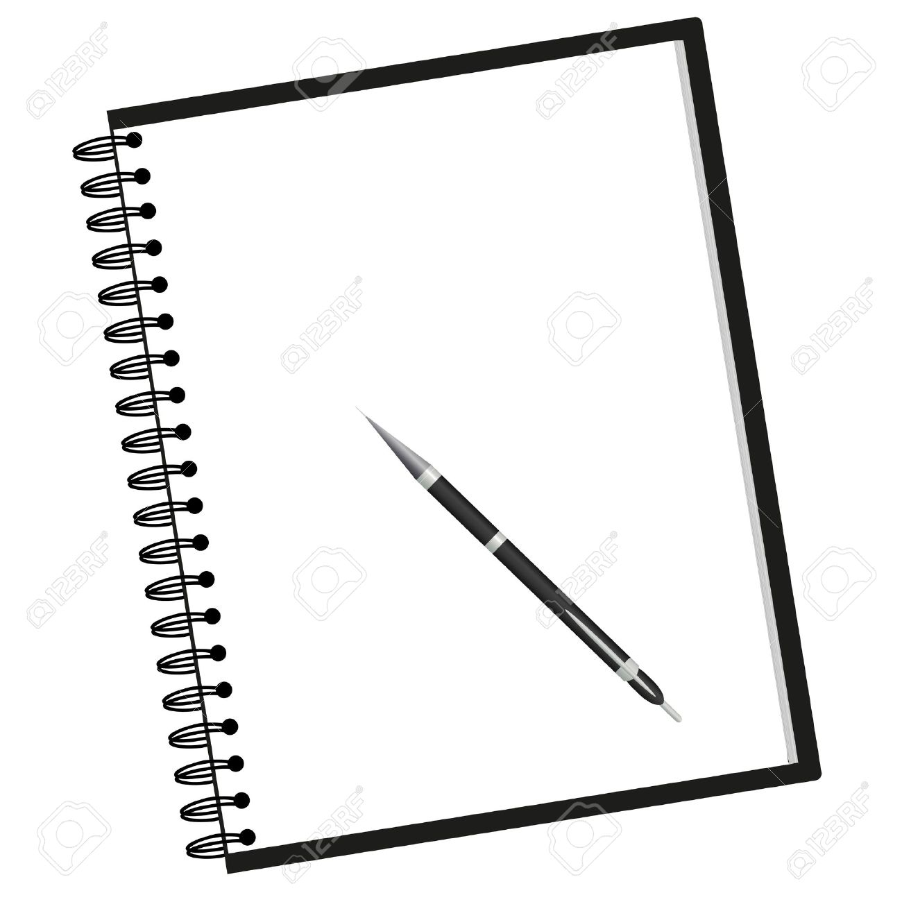 Notebook Clipart Black And White