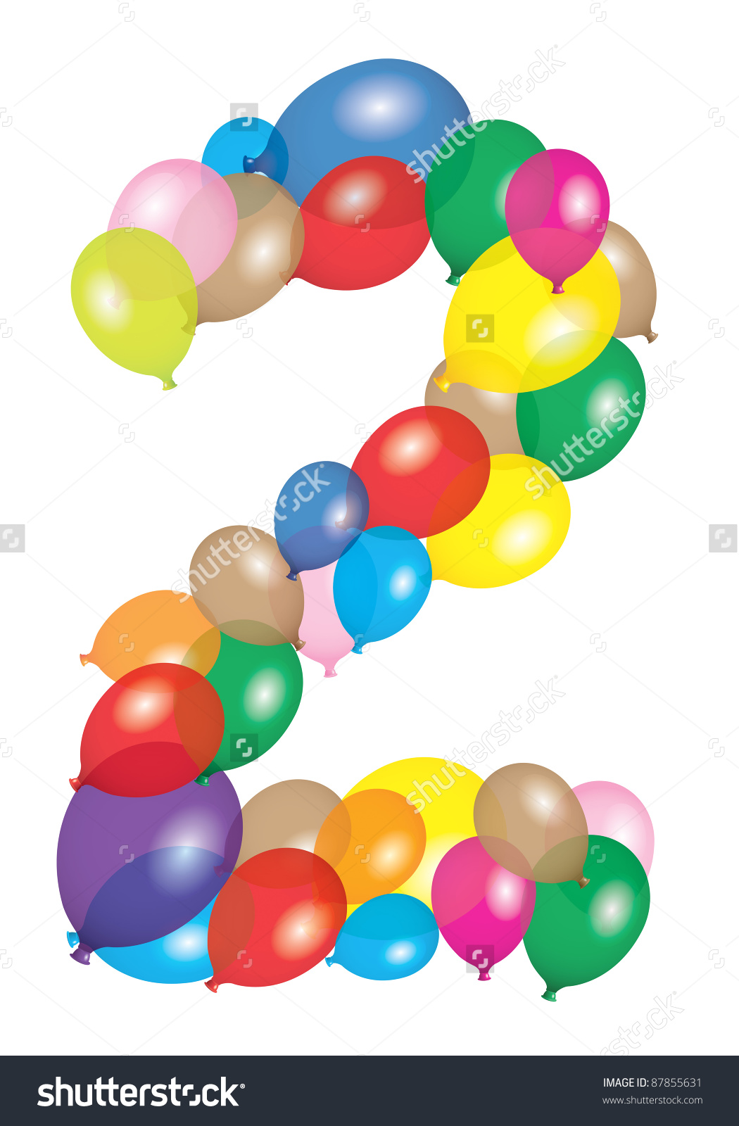 Number 2 Balloon Clipart Clipground
