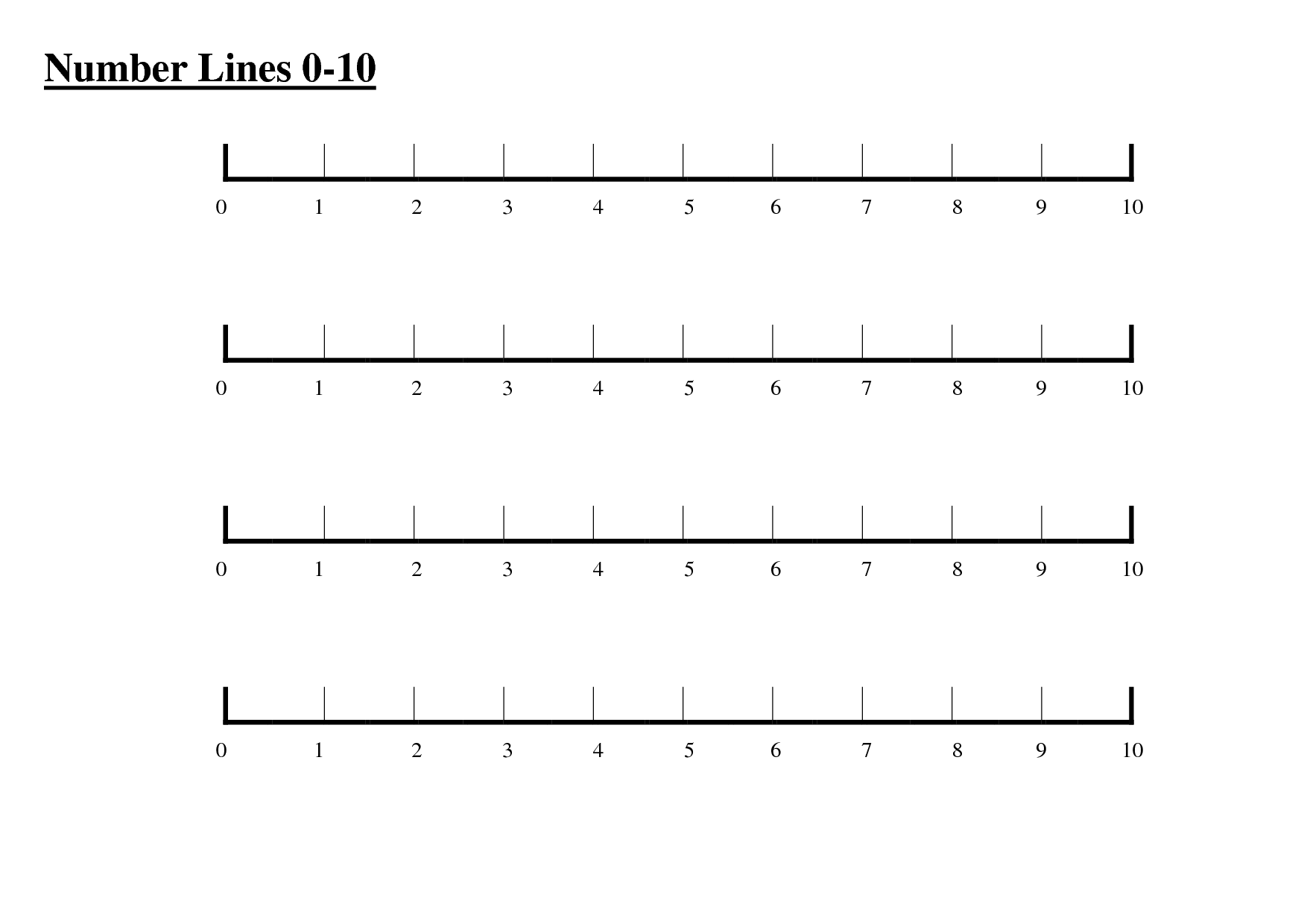 Number Line 0 To 30 Clipart