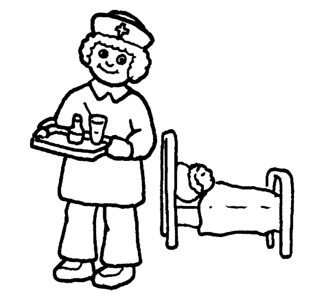 Nurses Clipart Free Color Pages