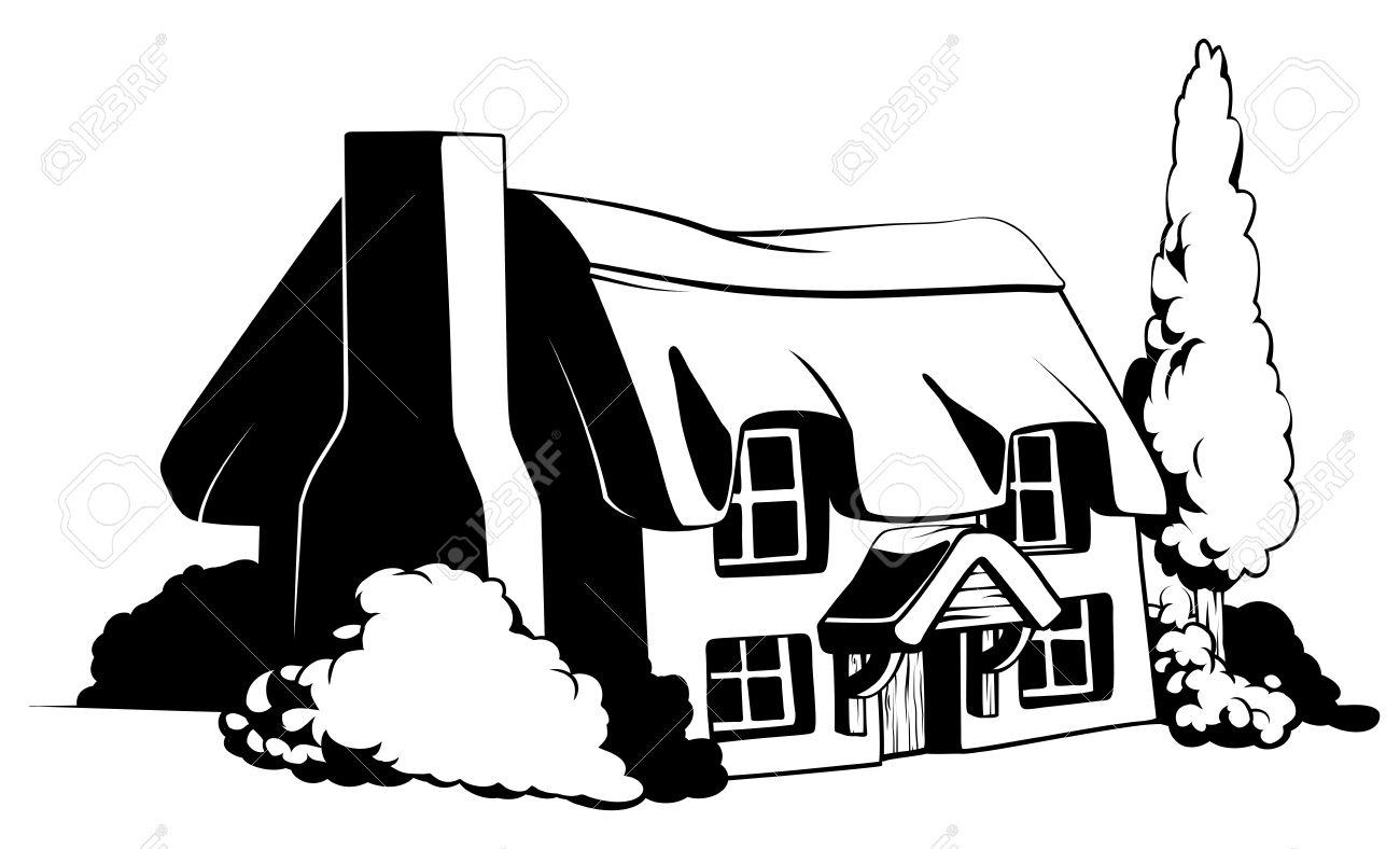Old Farmhouse Clipart