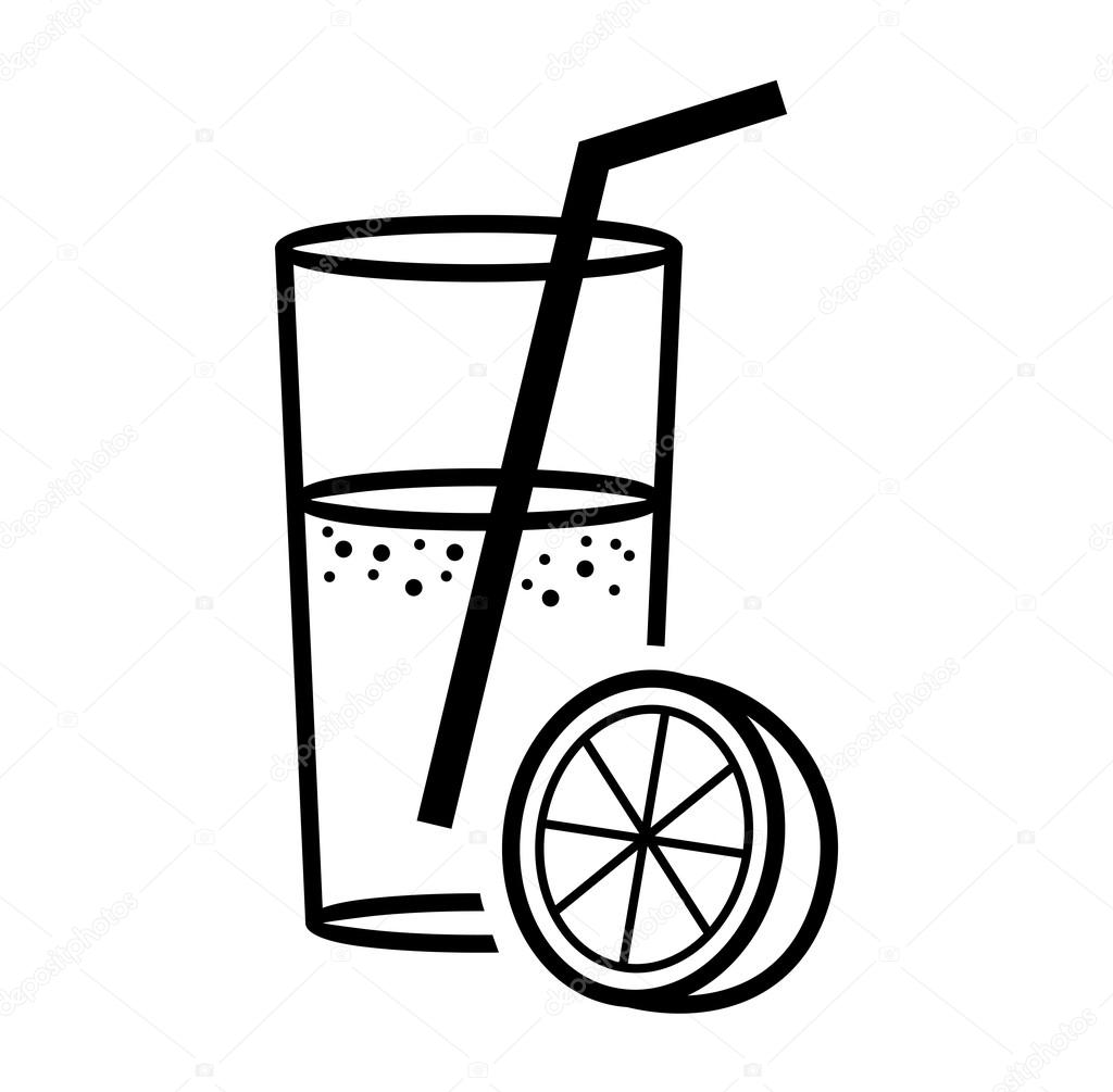 Orange Juice Clipart Black And White