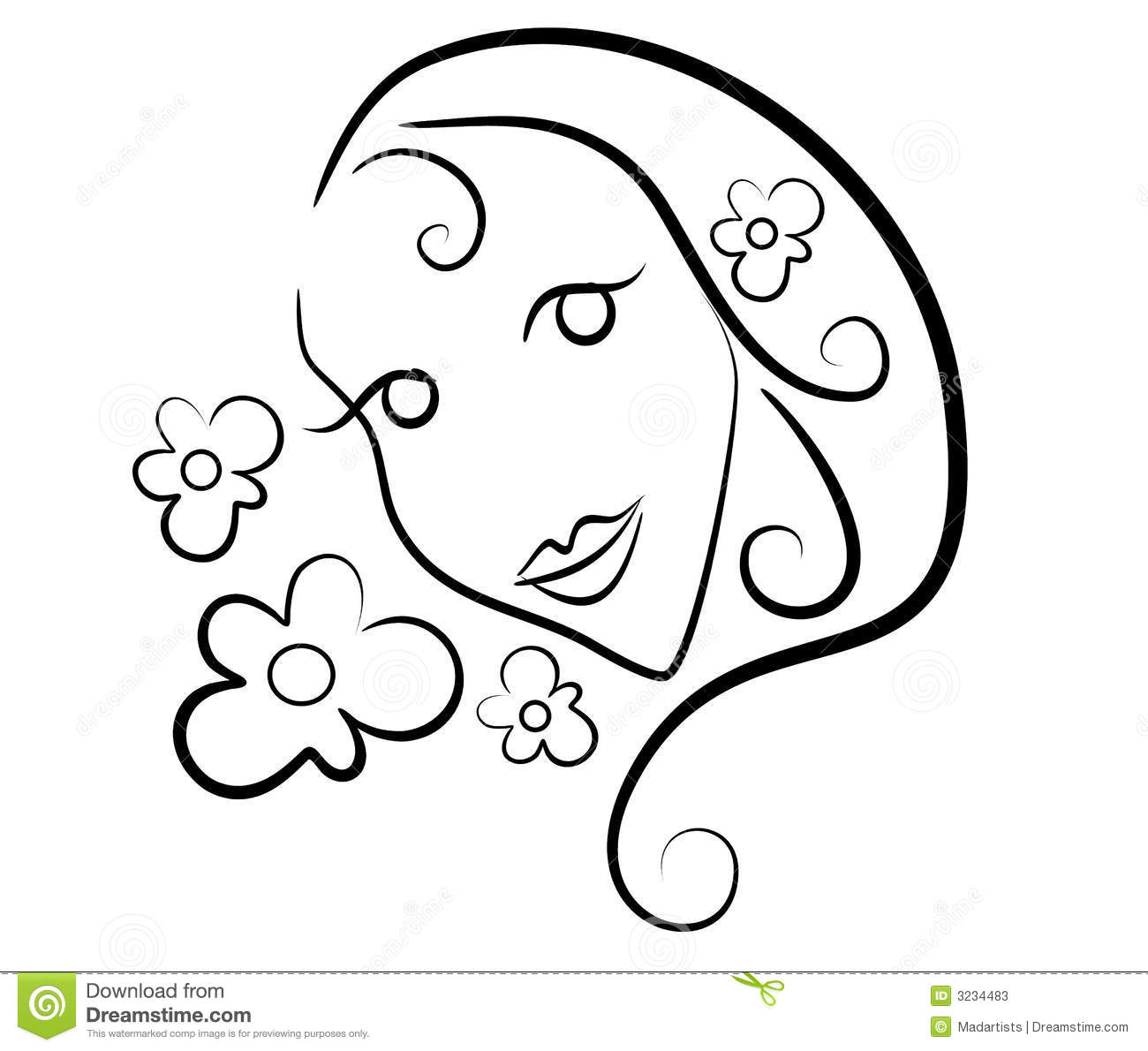 Outline Of A Flower Clip Art 20 Free Cliparts