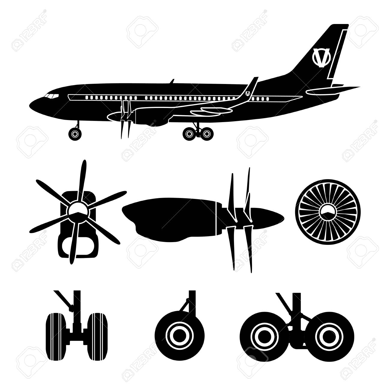 Parts For Aircraft Clipart