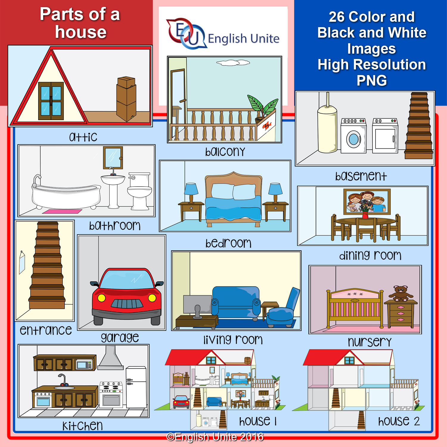 Parts Of A House Clipart