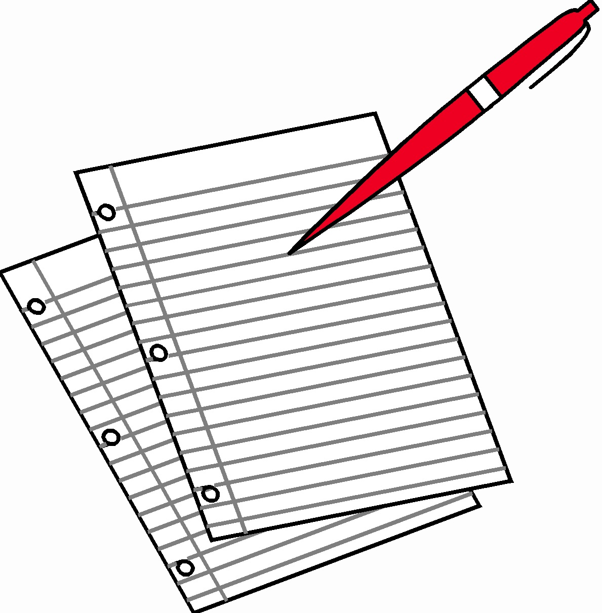 Pen And Paper Writing Clipart
