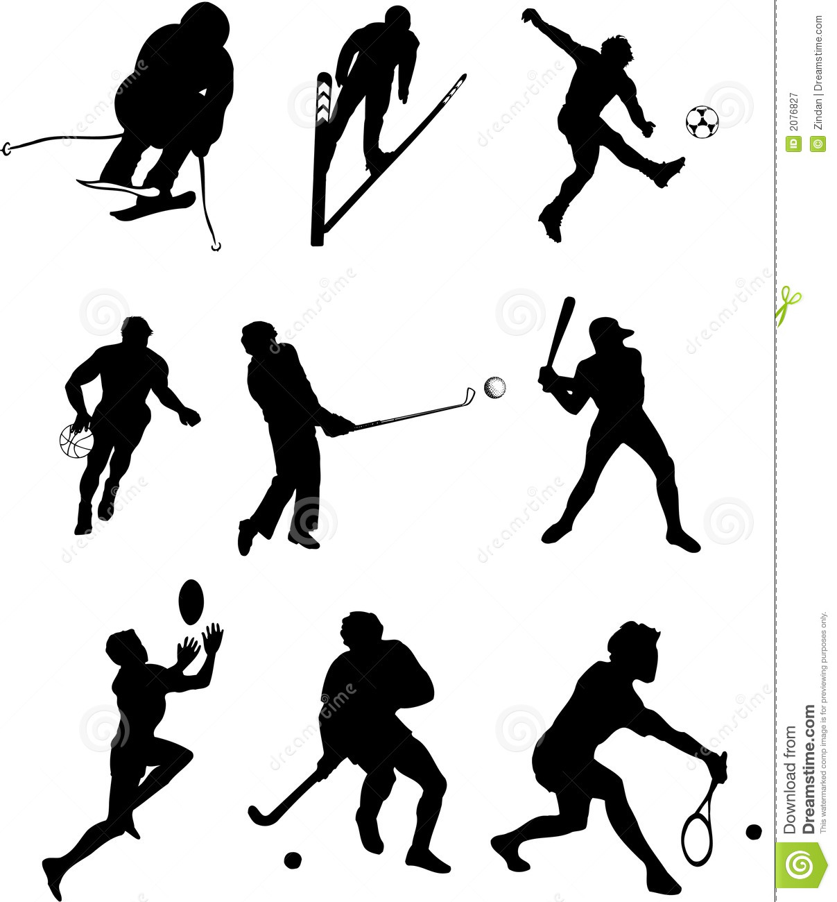 People Playing Sports Clipart