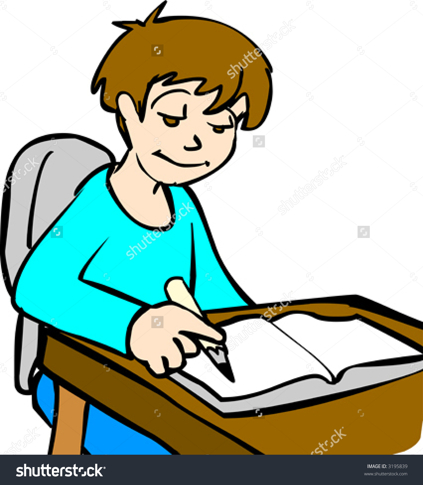 Someone Doing Homework Clipart Clipart Someone Doing