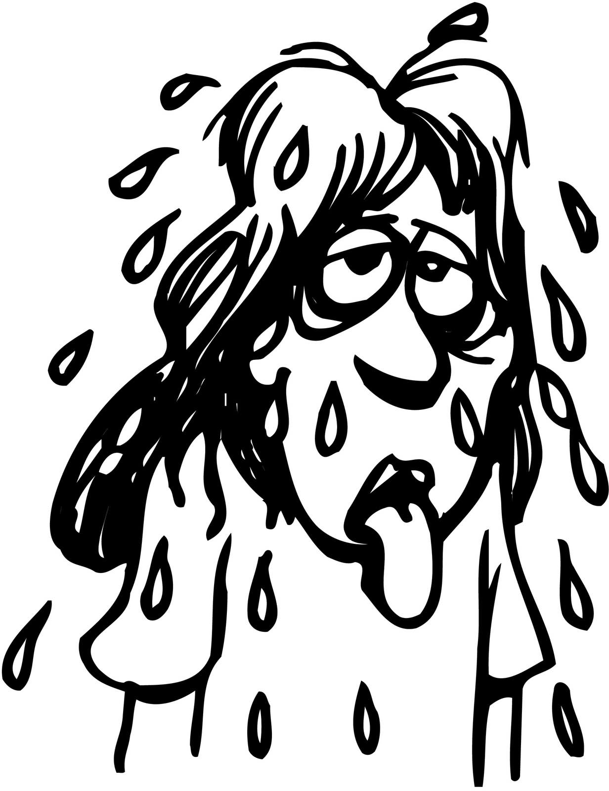 Clipart Person Sweating