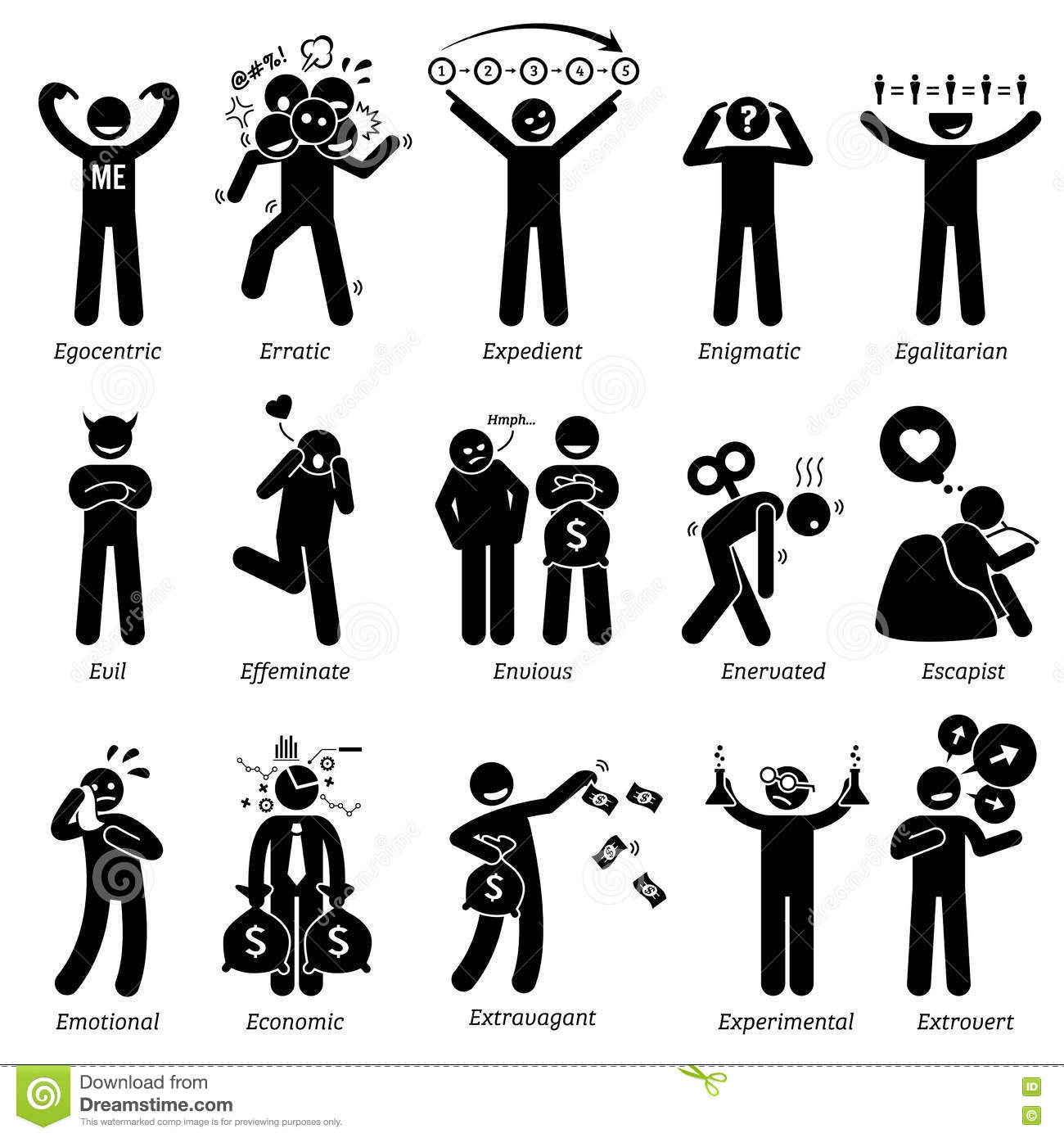 Personalities Clipart