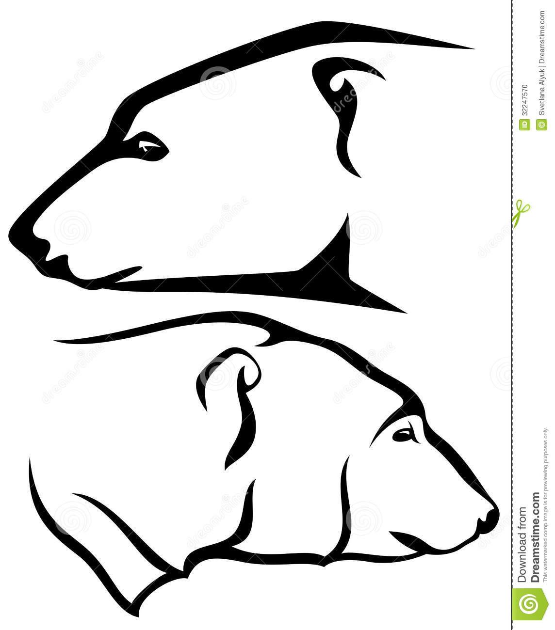 Polar Bear Clipart Outline