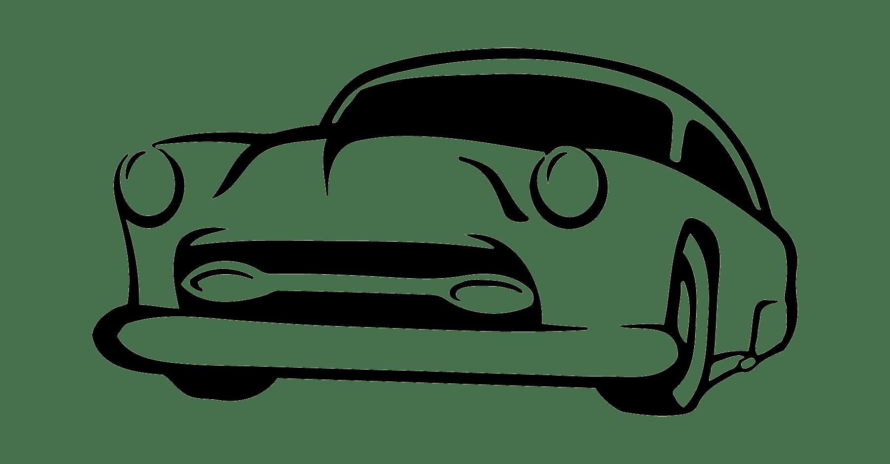 Police Bugatti Chiron Outline Clipart