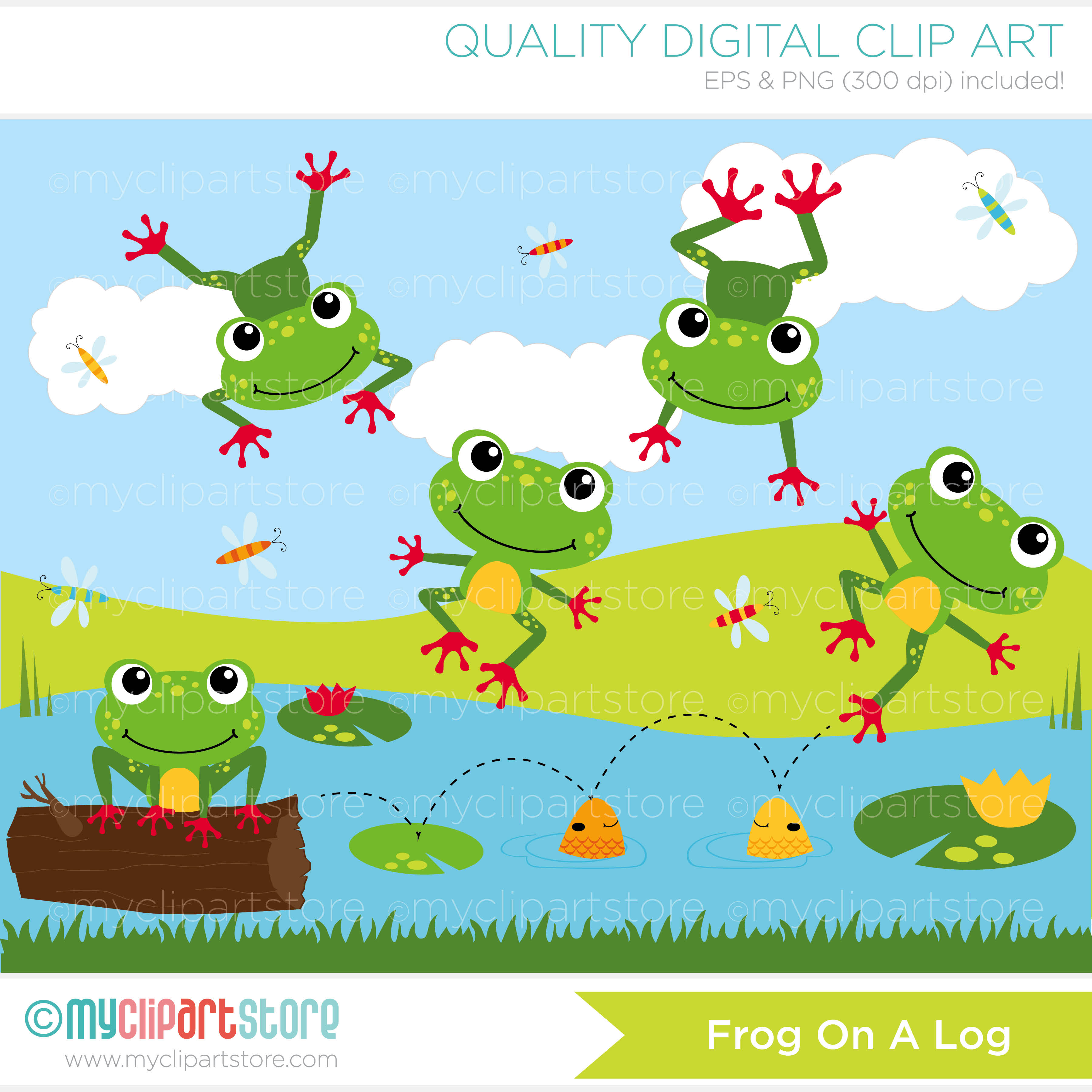 Pond With Frogs Clipart 20 Free Cliparts