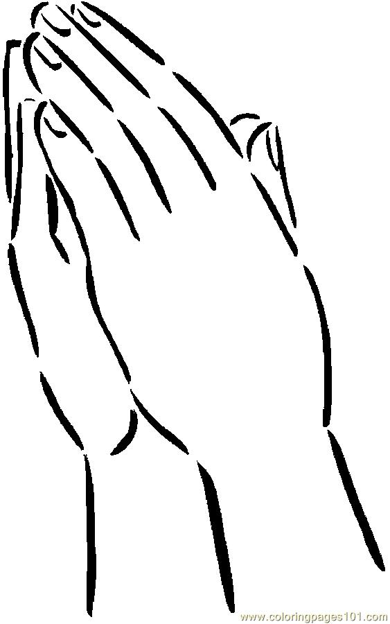 praying hands  color clipart  clipground
