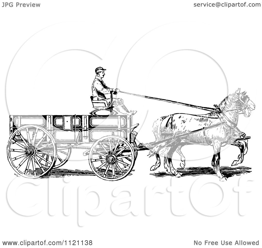 Pulling Horse Clipart
