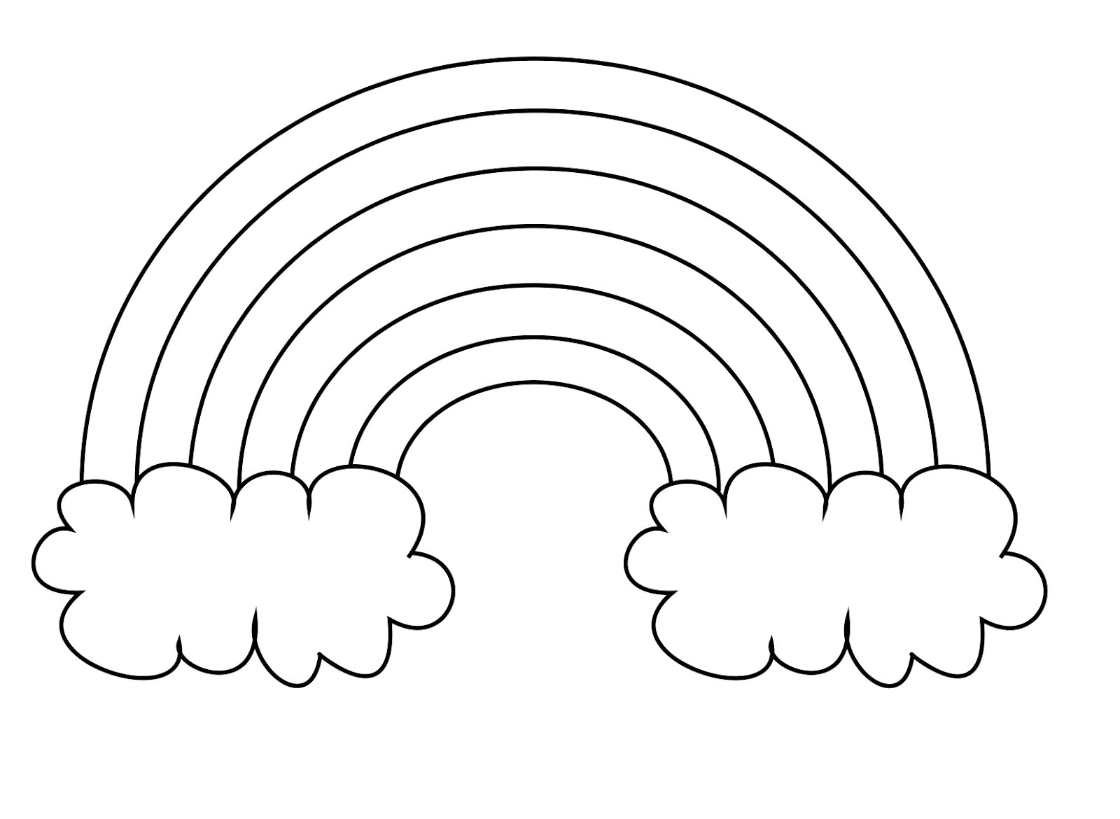 Rainbow Clipart To Color