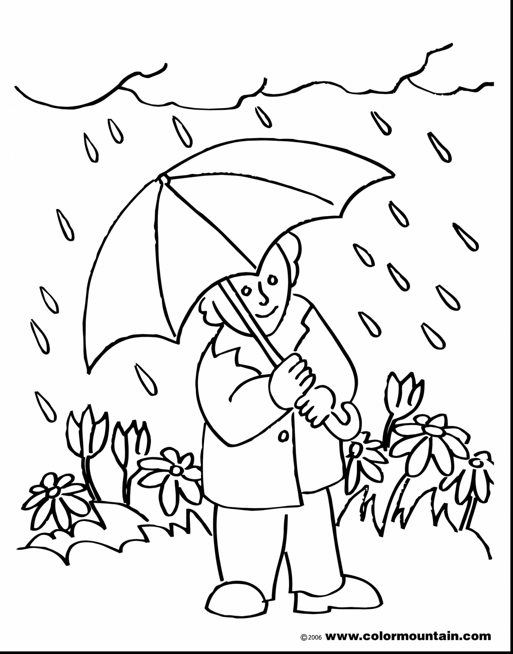 Rainy Weather Clipart Black And White