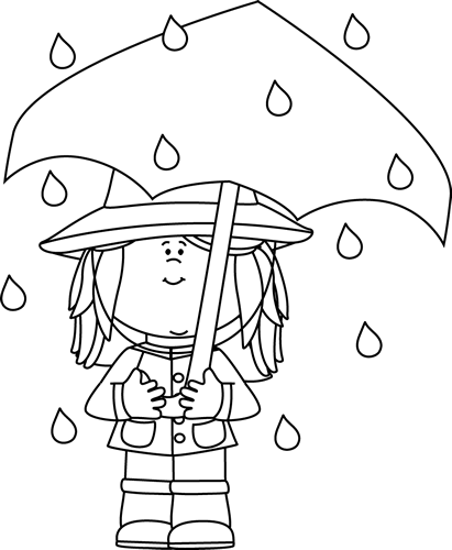Rainy Weather Clipart Black And White Clipground