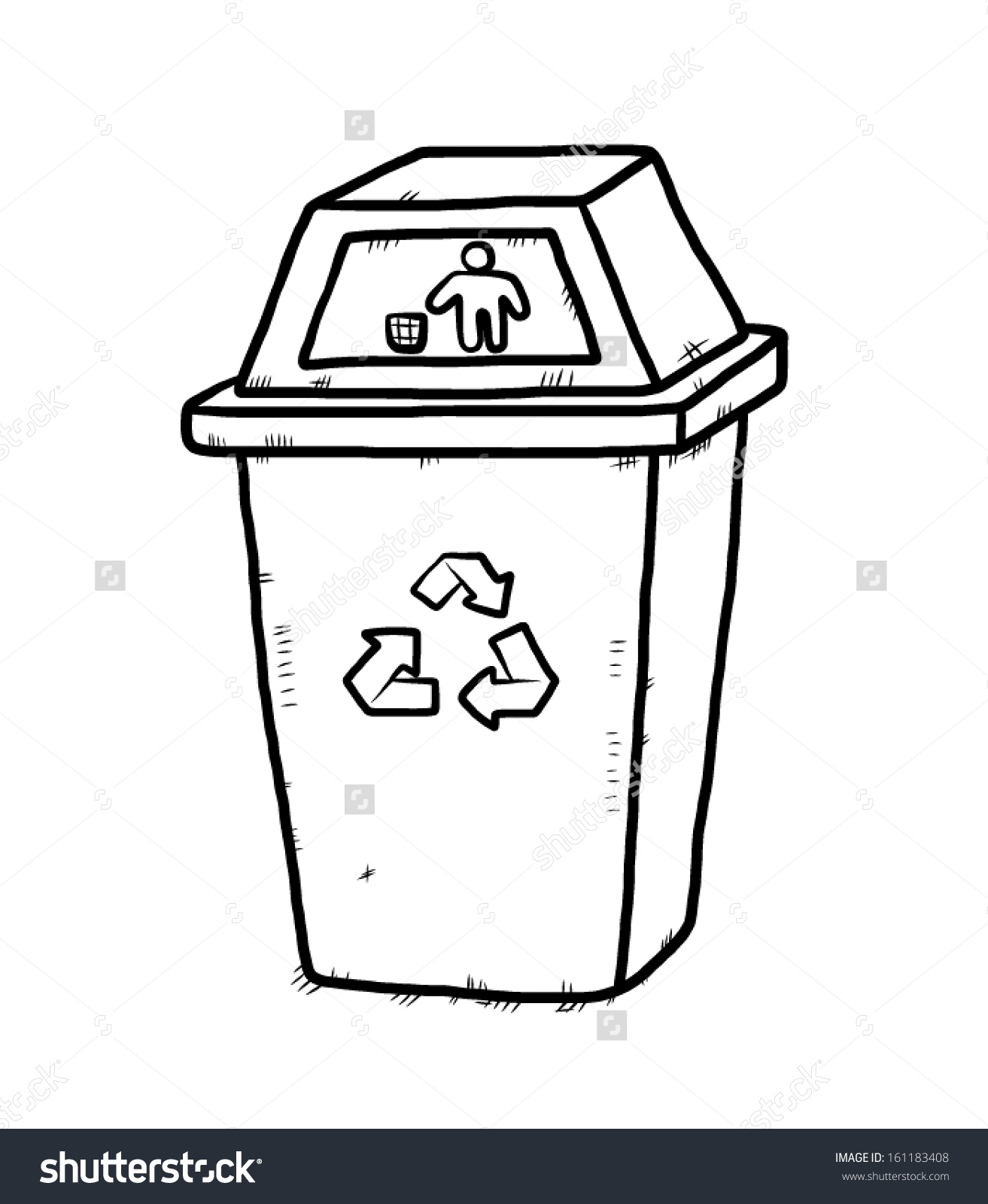 Recycling Bin Clipart Black And White 20 Free Cliparts