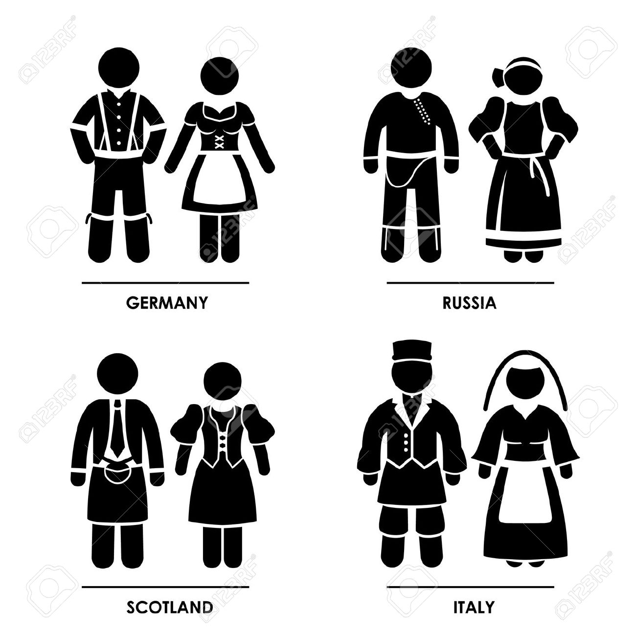 Regional Costumes Clipart