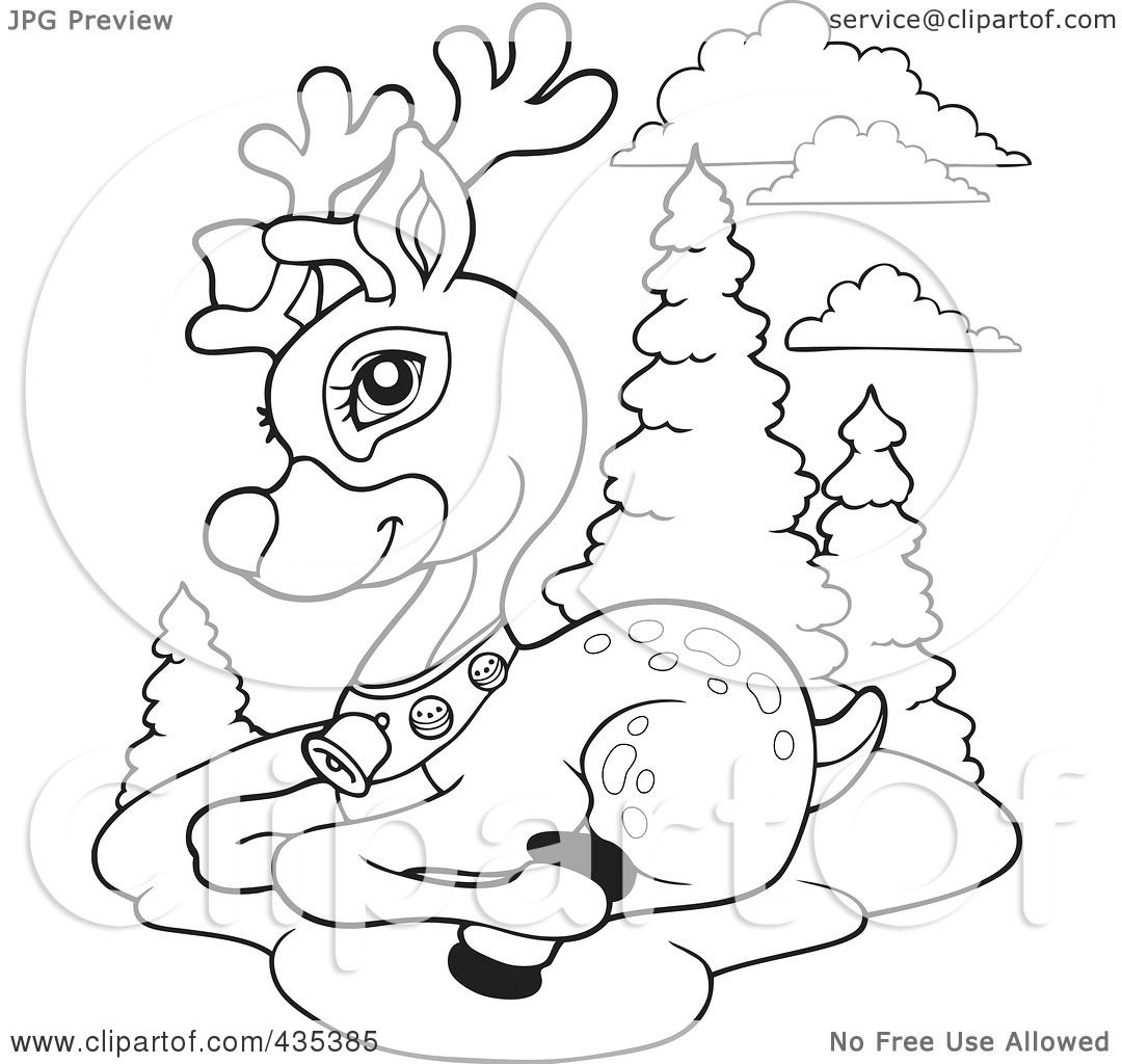 Reindeers Clipart Outline 20 Free Cliparts