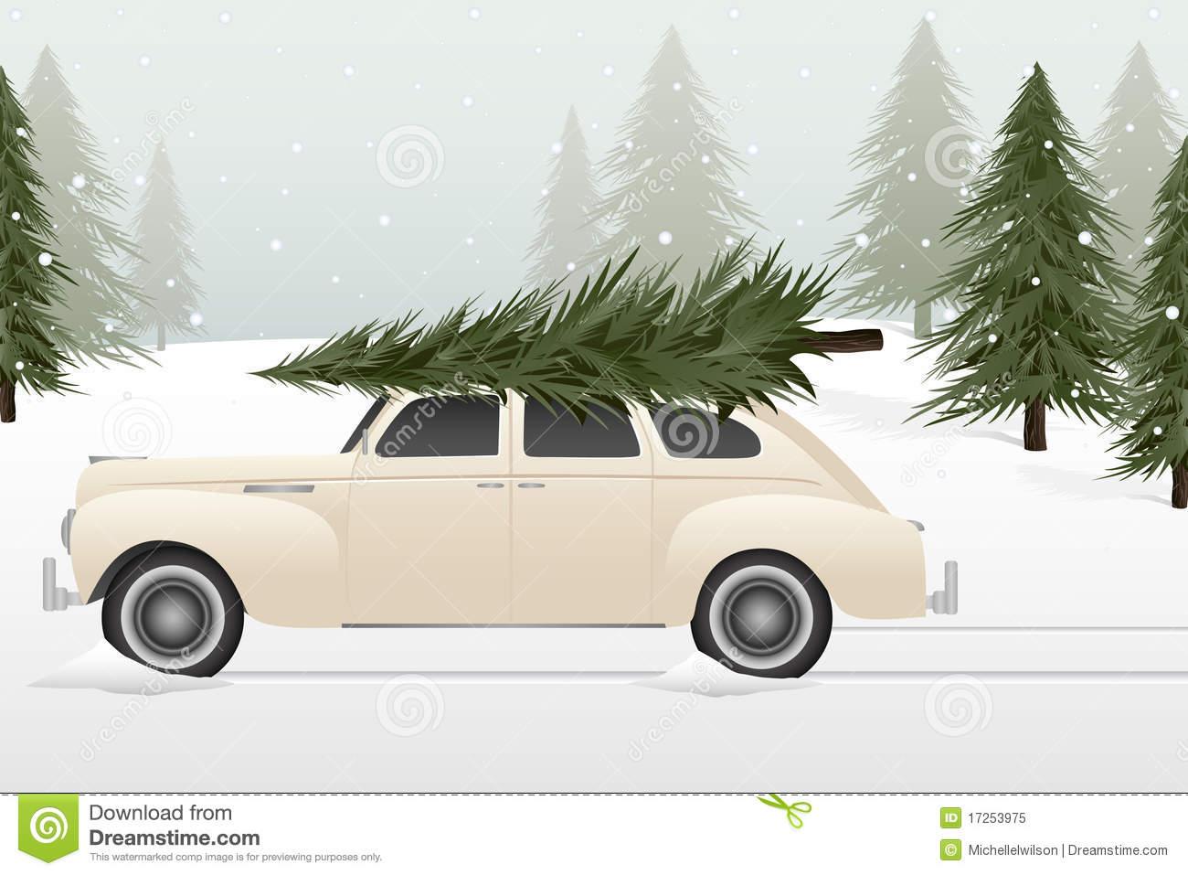Retro Car Christmas Tree Clipart 20 Free Cliparts