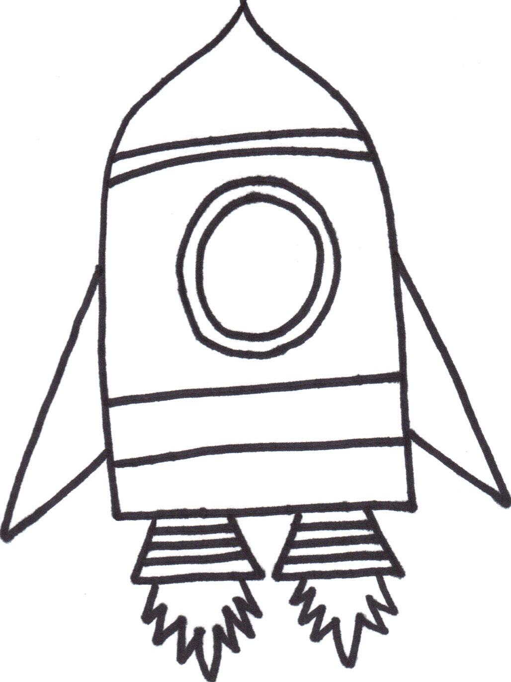 Rocket Outline Clip Art 20 Free Cliparts