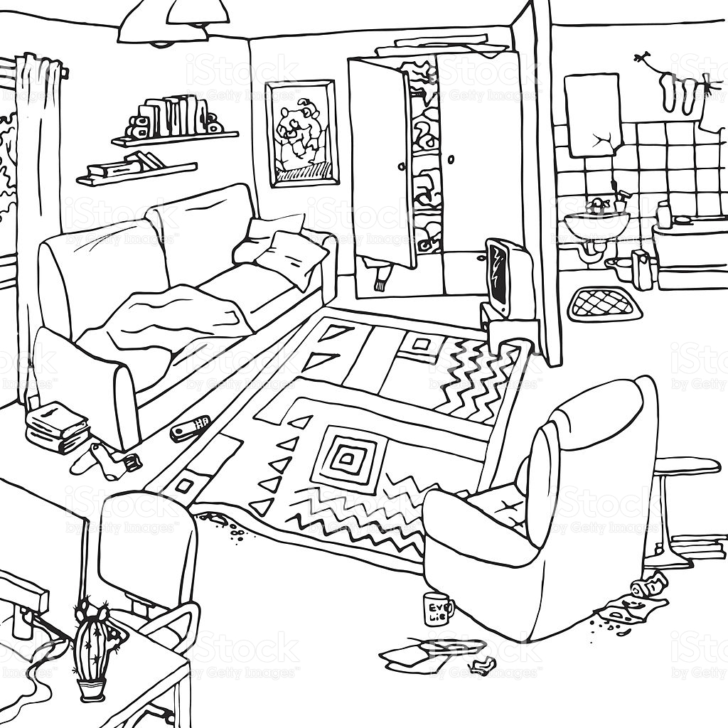 Room Clipart Black And White