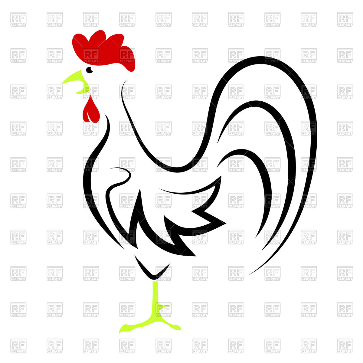 Rooster Head Outline Clipart 20 Free Cliparts