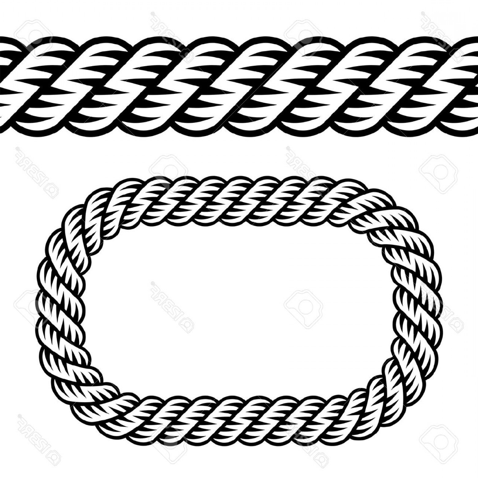 Rope Frame Silhouette Clipart 20 Free Cliparts