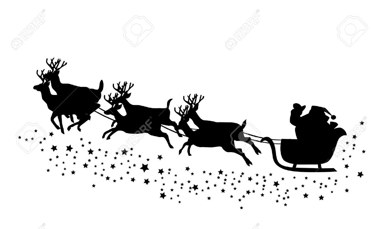 Santa Flying In His Sleigh Clipart 20 Free Cliparts
