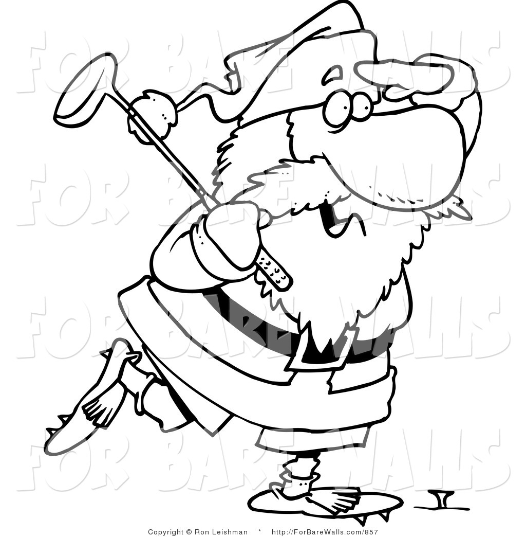 Santa Playing Golf Clipart 20 Free Cliparts