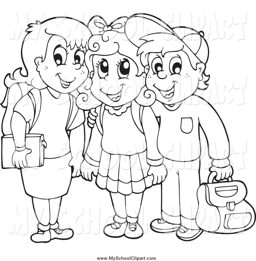 School Children Clipart Outline 20 Free Cliparts