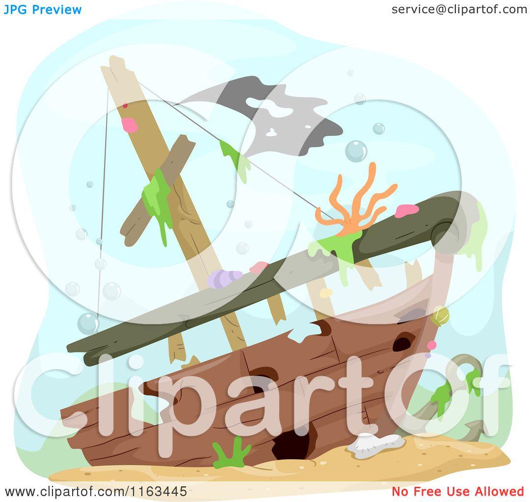 Black Sunken Ship Clip White Art And