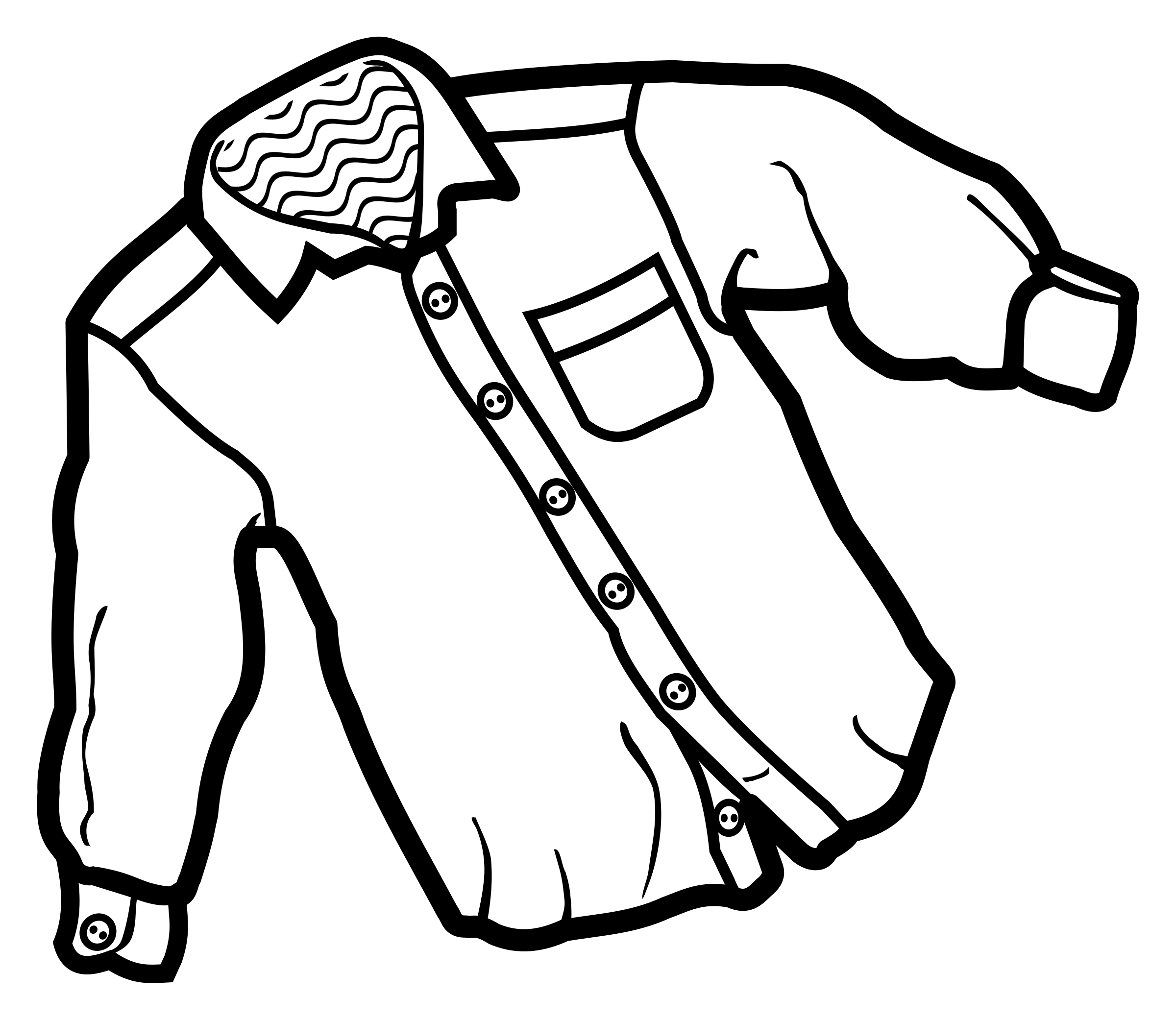 Black And White Shirt Clipart