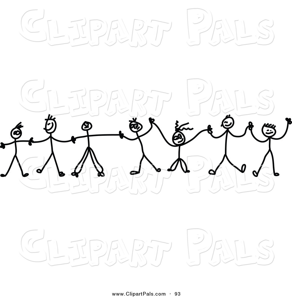Simple Diversity People With Wheelchair Clipart Black And