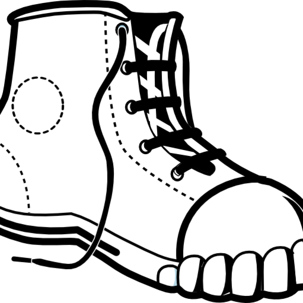 Slippers Clipart Black And White